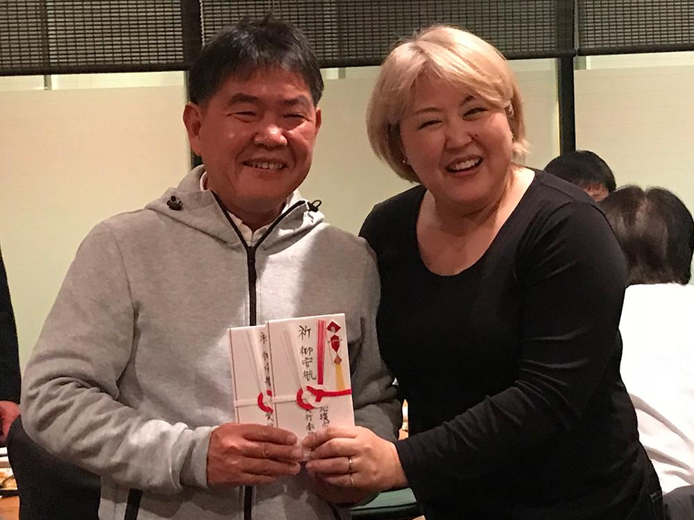 森村さんを囲む会での有志からの寄付金