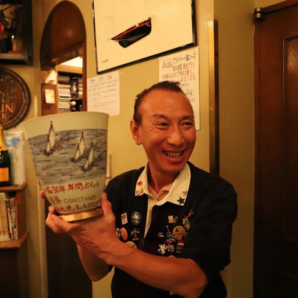 二次会はいつものARGUSで!世古さんは1年通してコミッティーでご協力いただきました。有難うございます!